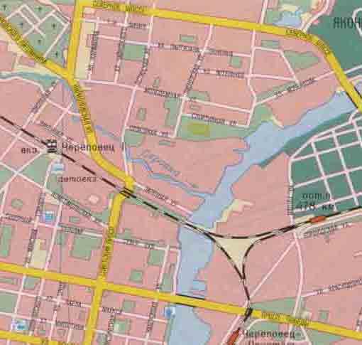 Карта Череповца с номерами домов  Россия  Карты городов